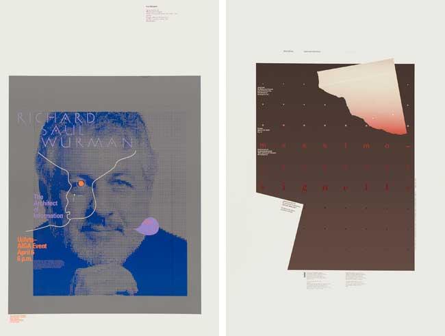Ricky Wurman UA/AIGA lecture, 1989 /  Massimo Vignelli UA/AIGA lecture, 1982