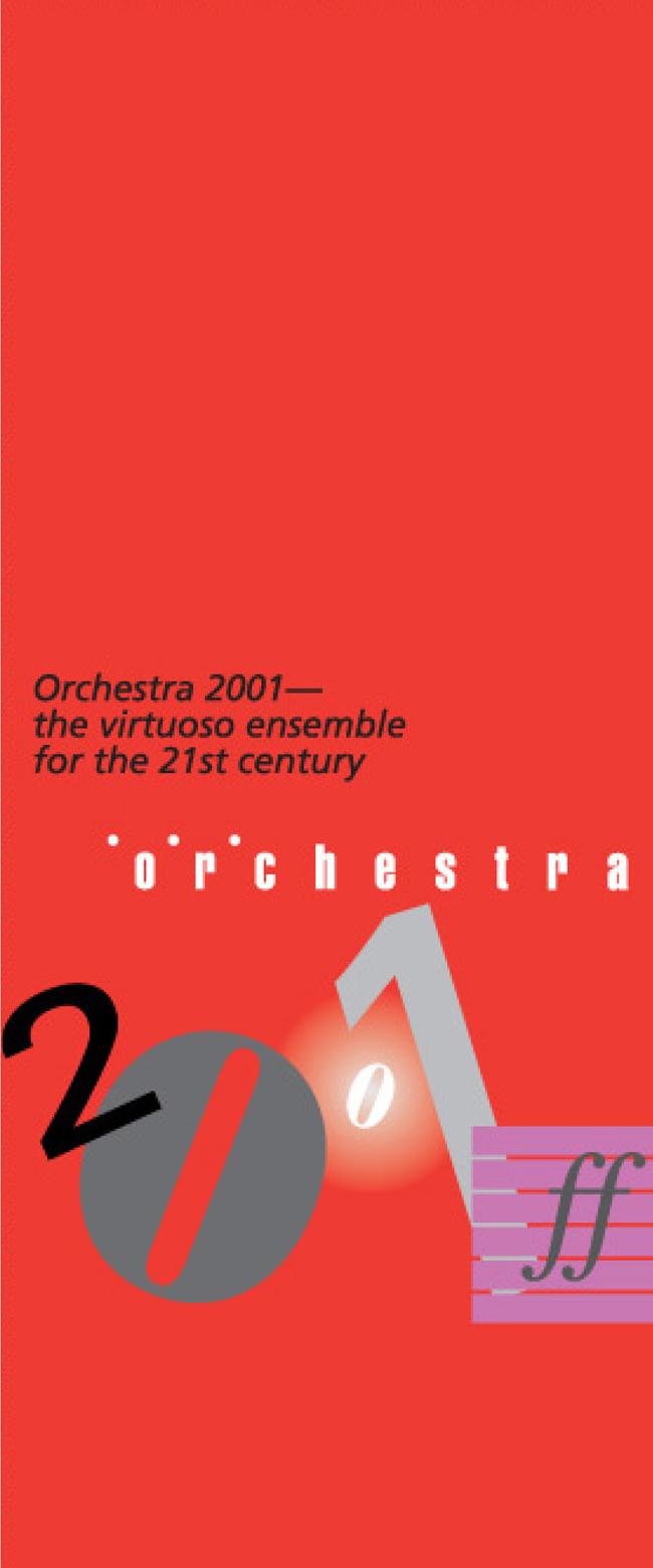 Brochure, Orchestra 2001, 2000